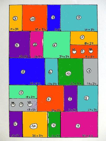 Schéma du plaid avec couleurs